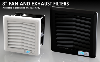 3″ Fan And Exhaust Filters