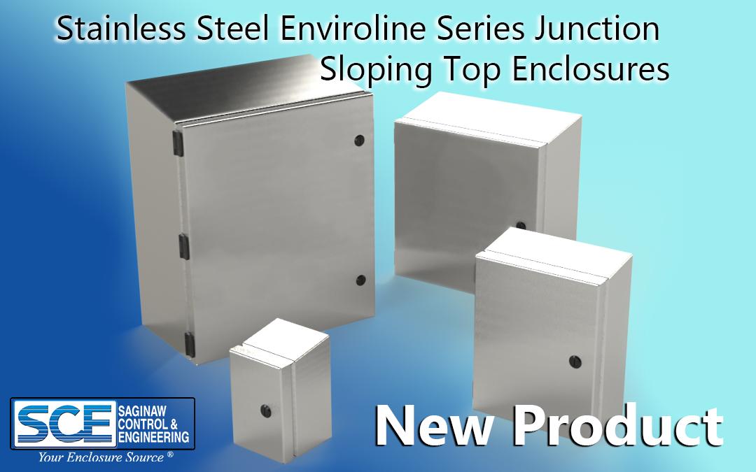 Stainless Steel Enviroline Series Junction Sloping Top Enclosures